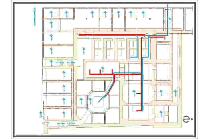 نقشه حمام شیخ سلماس