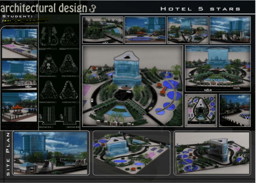 دانلود پروژه طرحی معماری 3