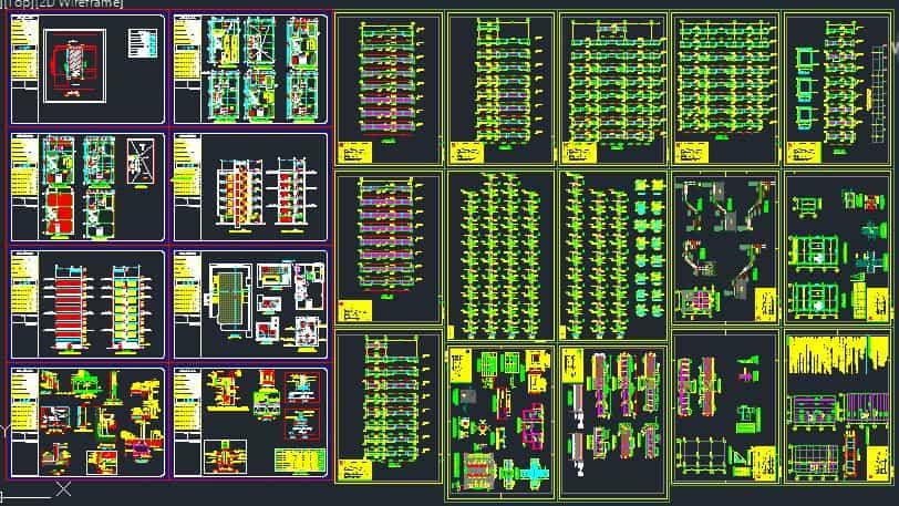دانلود نقشه ساختمان مسکونی