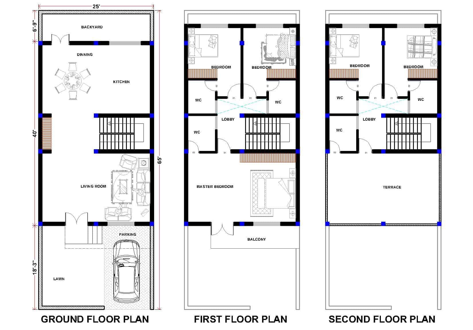 دانلود پروژه طراحی ساختمان مسکونی
