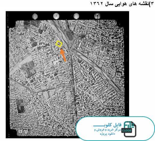 نقشه هوای تبریز سال 1362
