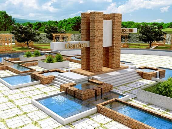 دانلود پایان نامه طراحی باغ موزه